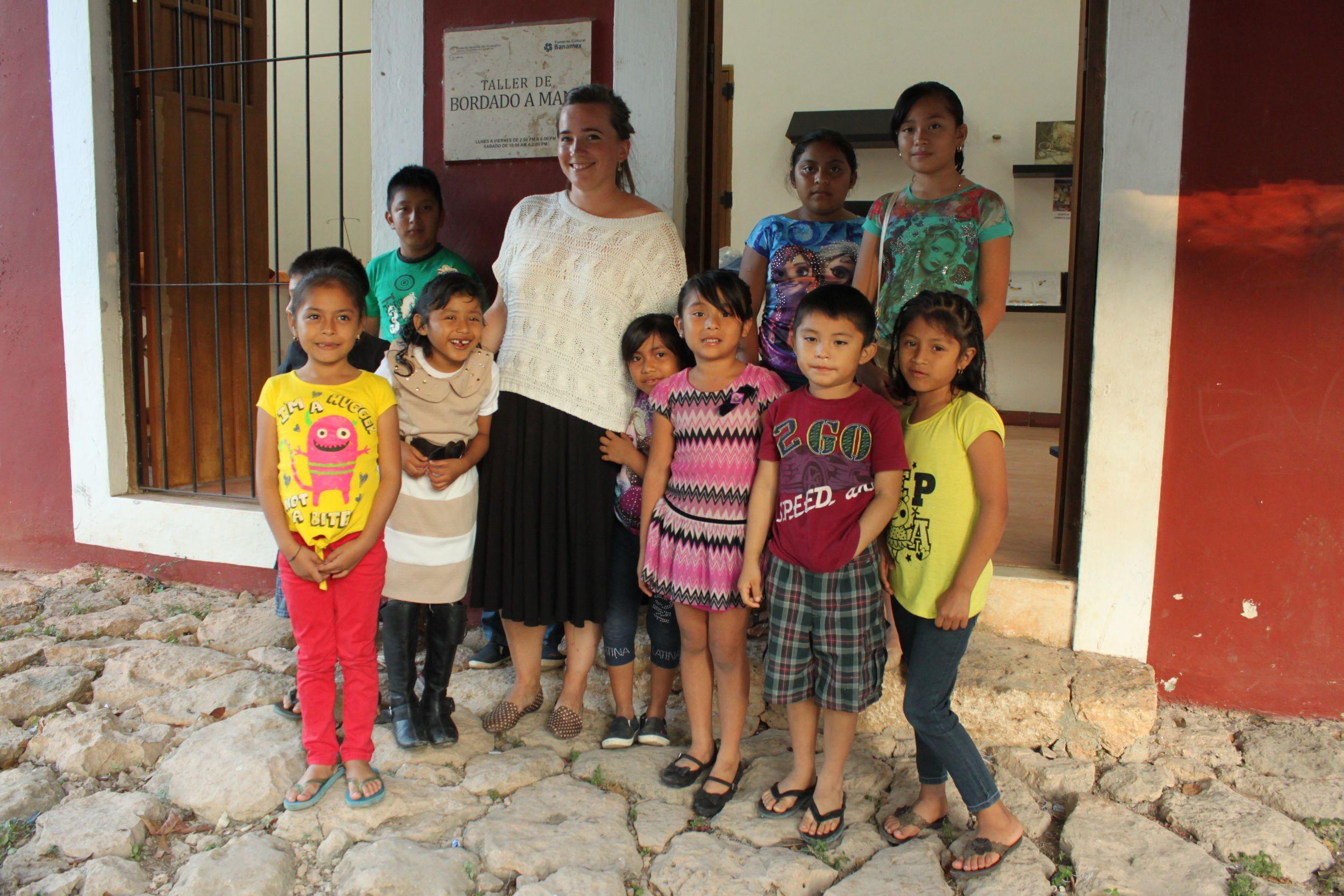 Students in Temozón