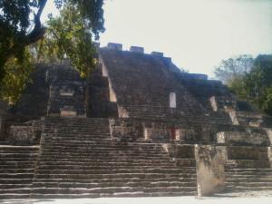 Imposing temple in Calakmul